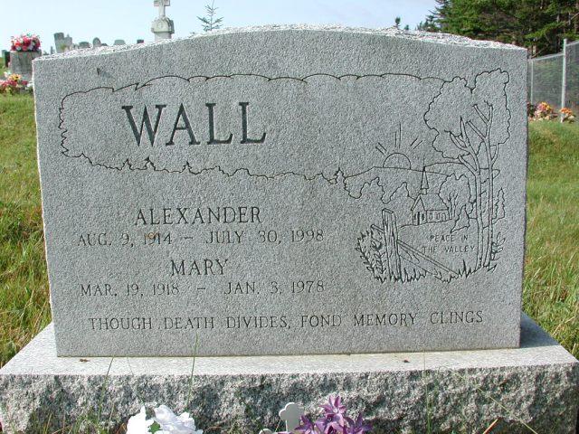 WALL, Alexander (1998) & Mary (1978) CLN01-7993