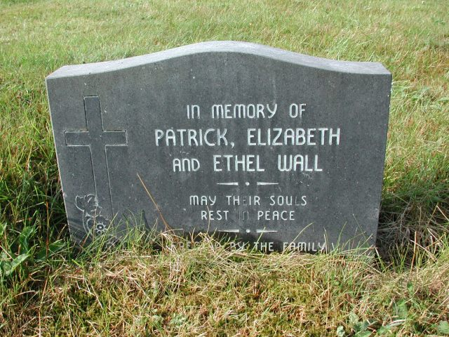 WALL, Patrick (xxxx) & Elizabeth & Ethel CLN01-7992