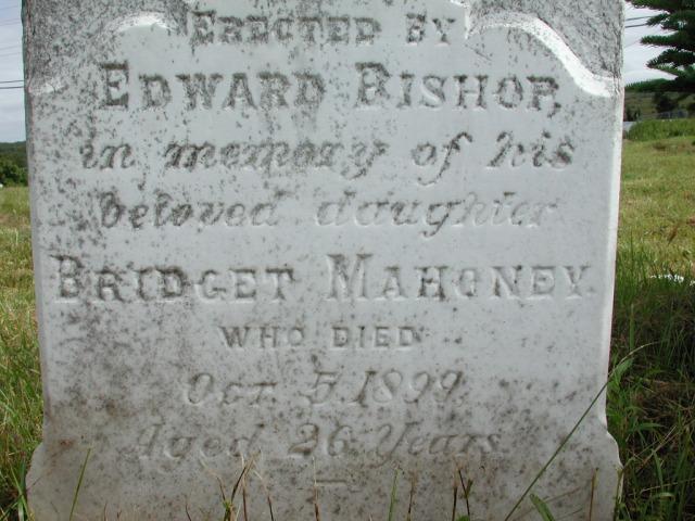 BISHOP, Bridget Mahoney (1899) STM01-2401