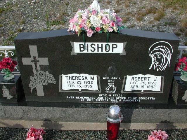 BISHOP, Robert J (1992) & Theresa M (1995) STM03-9467