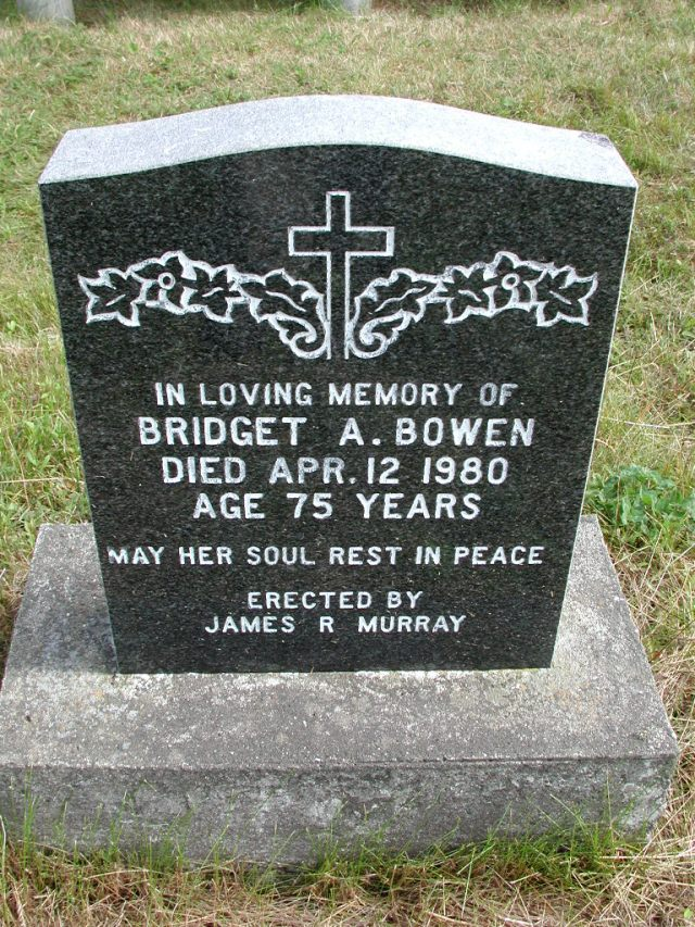 BOWEN, Bridget A (1980) STM01-8207