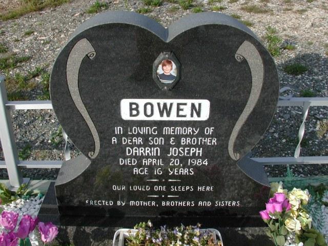BOWEN, Darrin Joseph (1984) STM03-9429