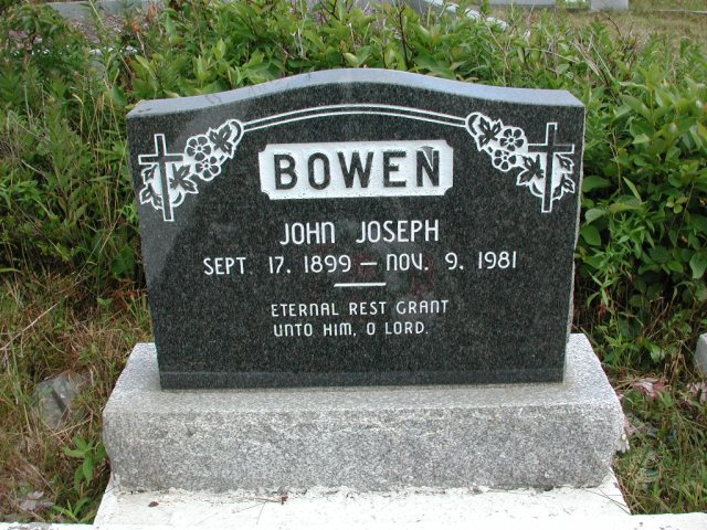 BOWEN, John Joseph (1981) STM01-2475