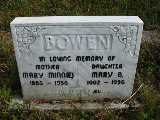 BOWEN, Mary Minnie (1956) & Mary B (1956) STM01-8215