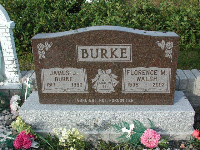 BURKE, James J (1990) & Florence M Walsh STM03-3718