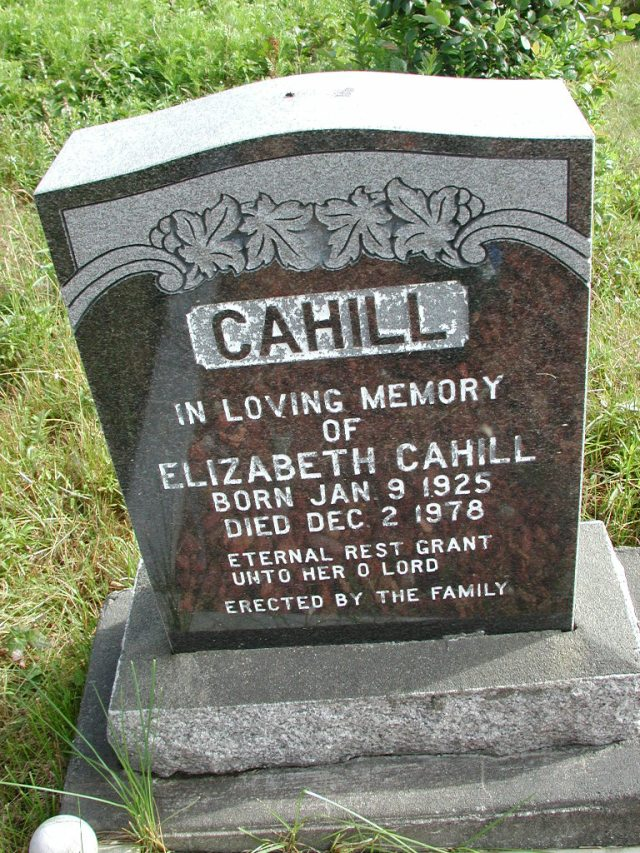CAHILL, Elizabeth (1978) STM01-8240