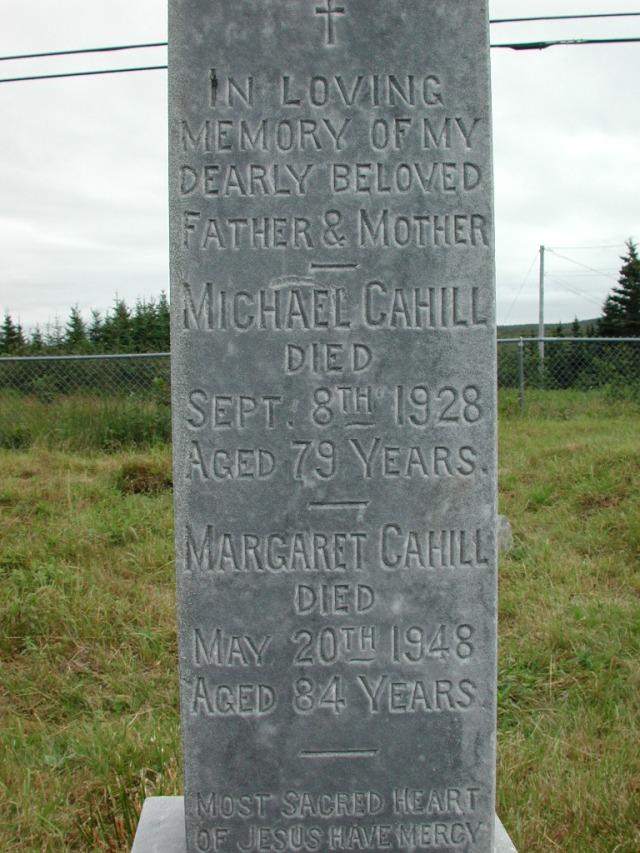 CAHILL, Michael (1928) & Margaret (1948) STM01-2306