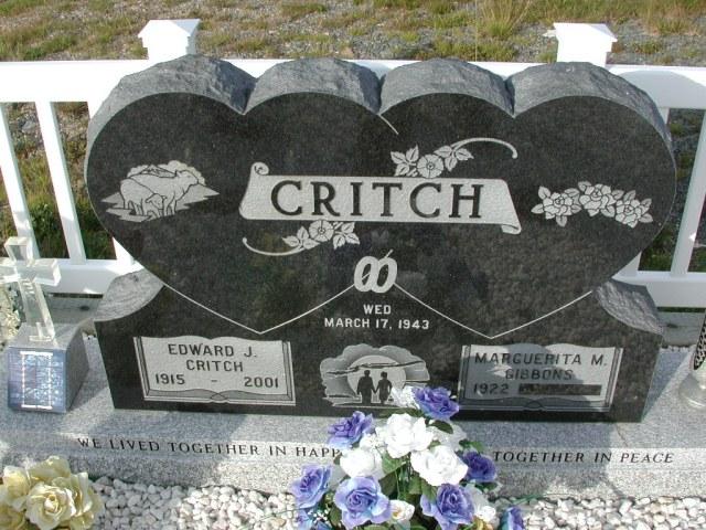 CRITCH, Edward J (2001) & Marguerita M Gibbons STM03-9406