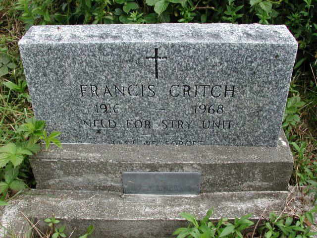 CRITCH, Francis (1968) STM01-8322