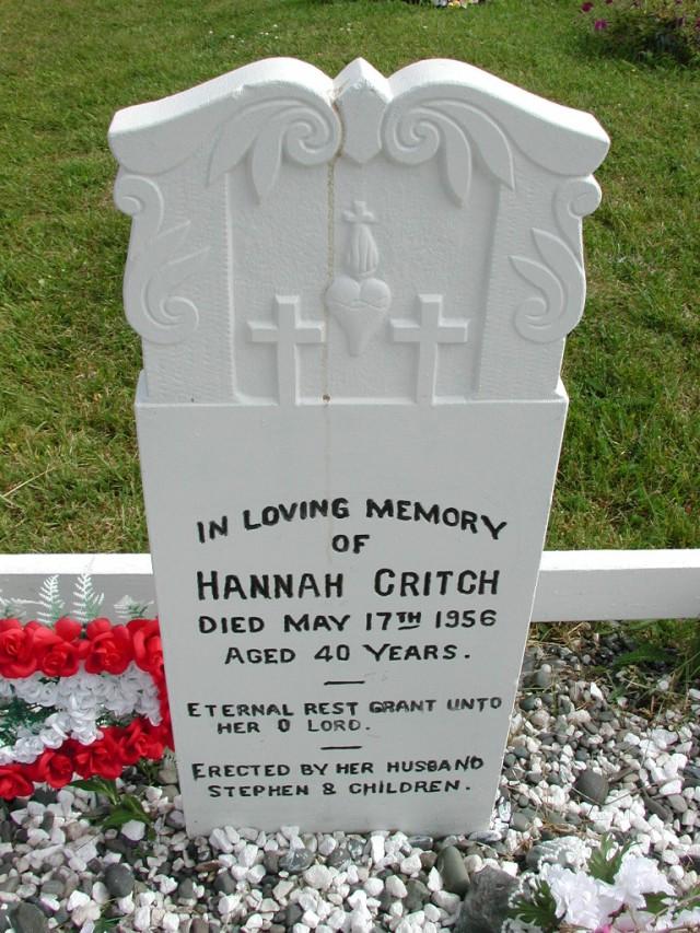 CRITCH, Hannah (1956) STM01-8189