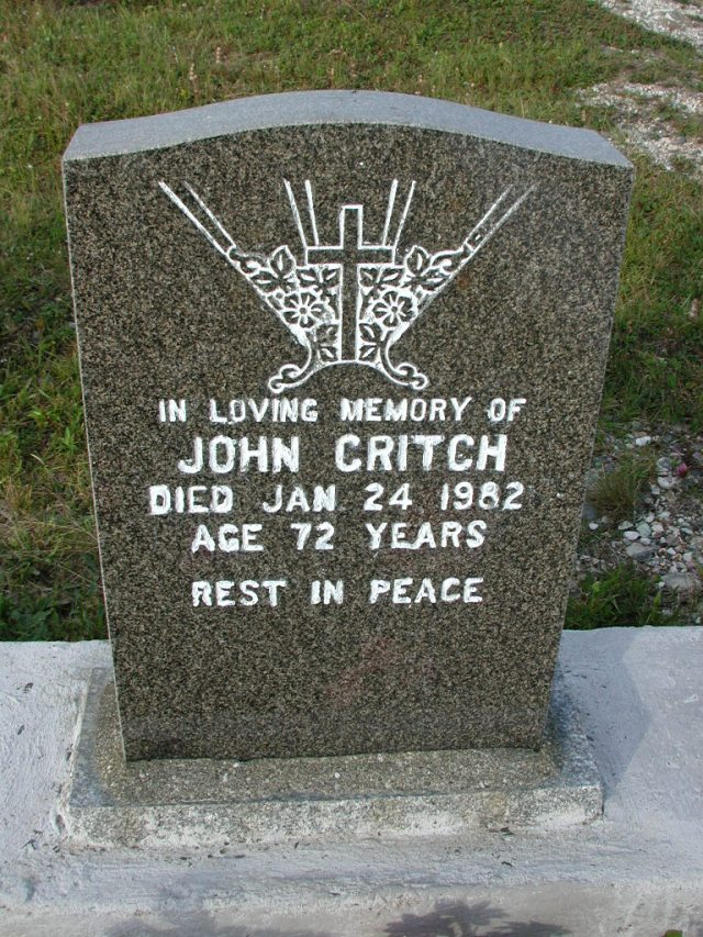 CRITCH, John (1982) STM03-9458