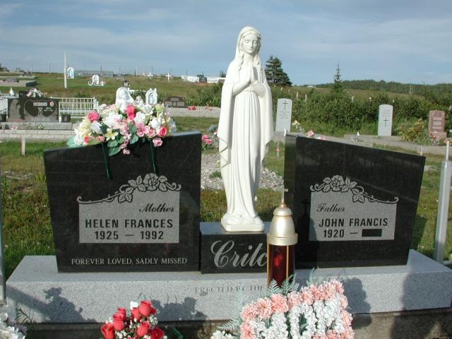 CRITCH, John Francis (xxxx) & Helen F (1992) STM03-3681
