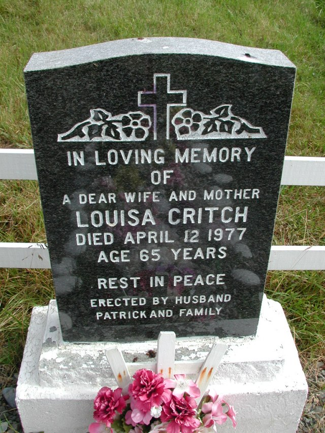 CRITCH, Louisa (1977) STM01-8251
