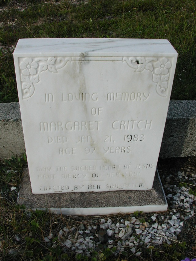 CRITCH, Margaret (1983) STM03-9455