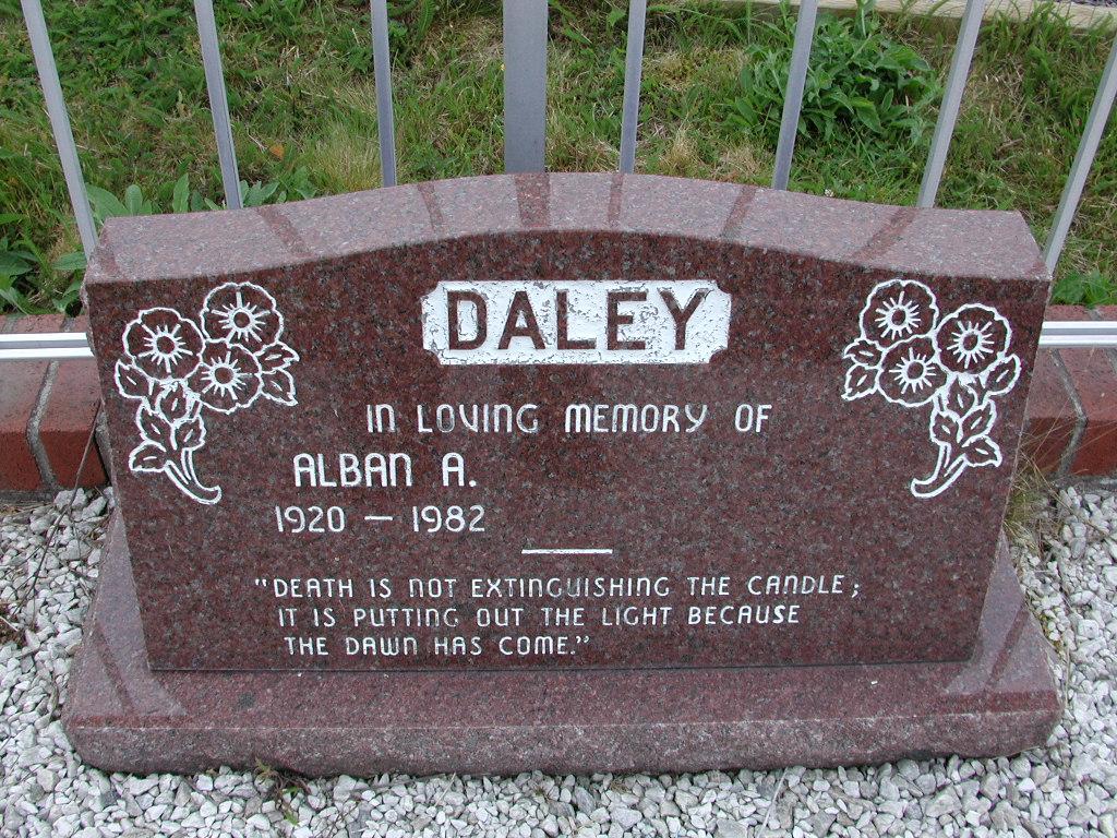 DALEY, Alban A (1982) SJP01-7434