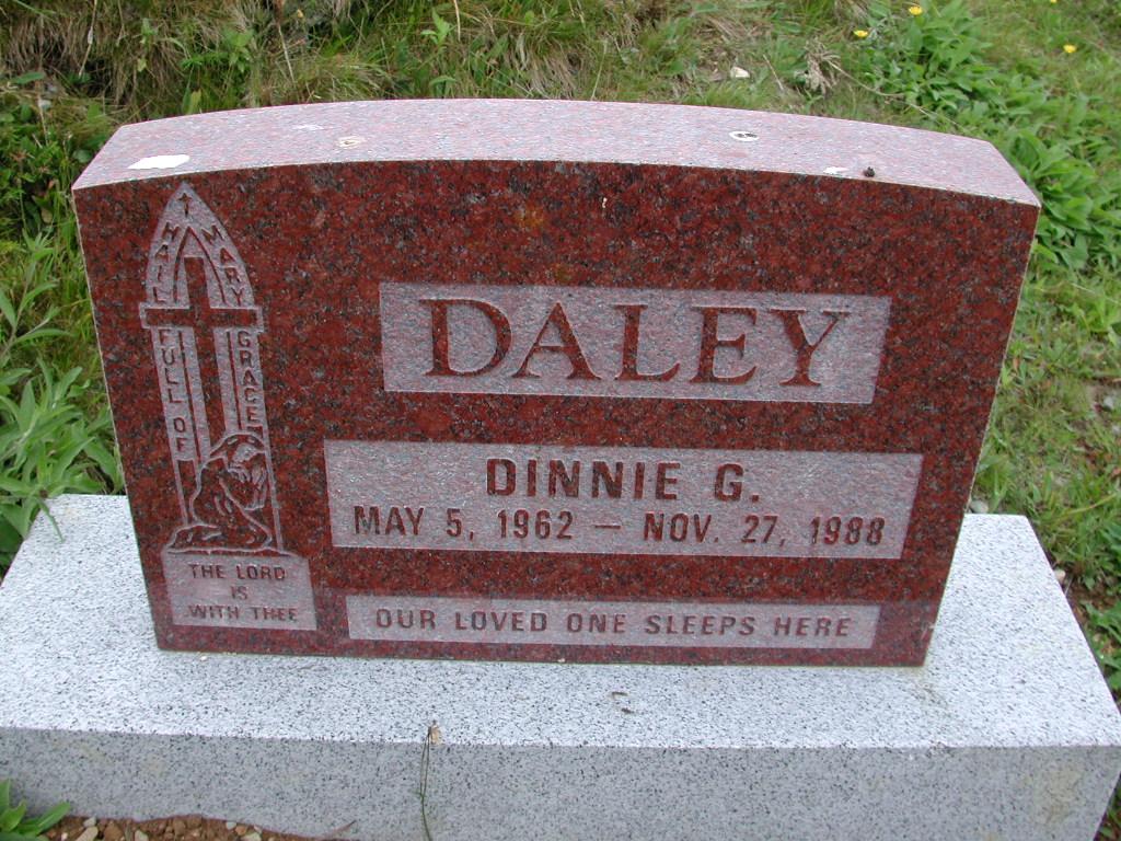 DALEY, Dinnie G (1988) SJP01-7485
