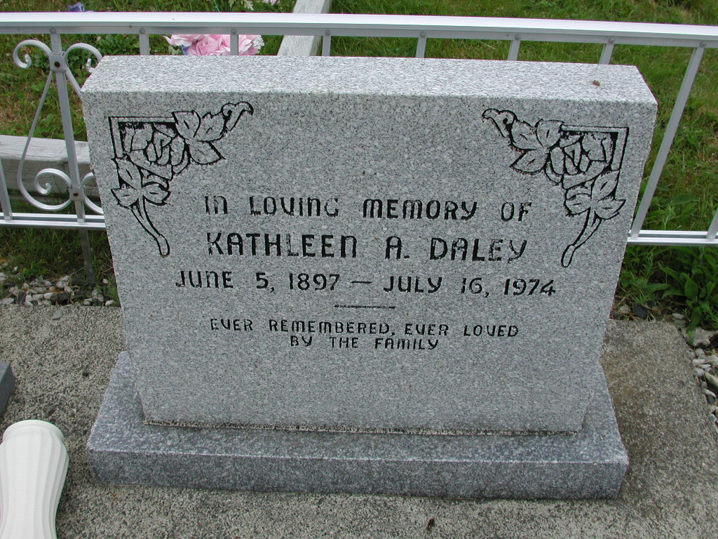 DALEY, Kathleen A (1974) SJP01-7502
