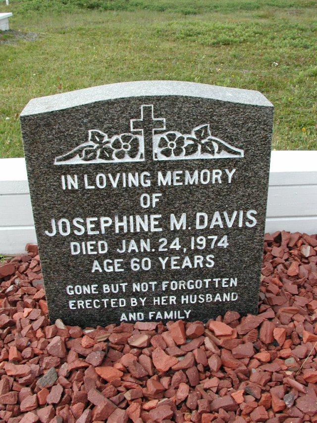 DAVIS, Josephine M (1974) SSH01-8992