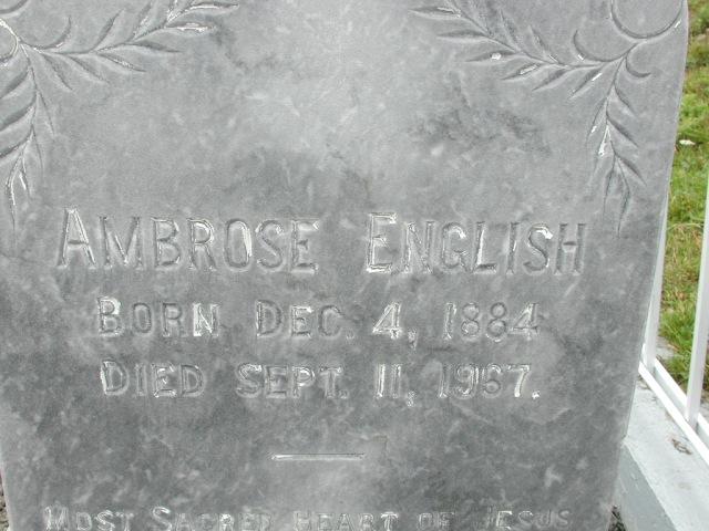 ENGLISH, Ambrose (1967) BRA01-3182
