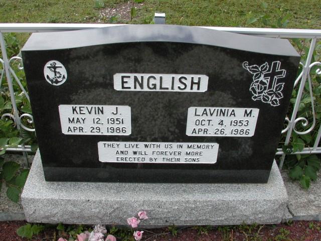 ENGLISH, Kevin J (1986) & Lavinia M (1986) BRA01-3246