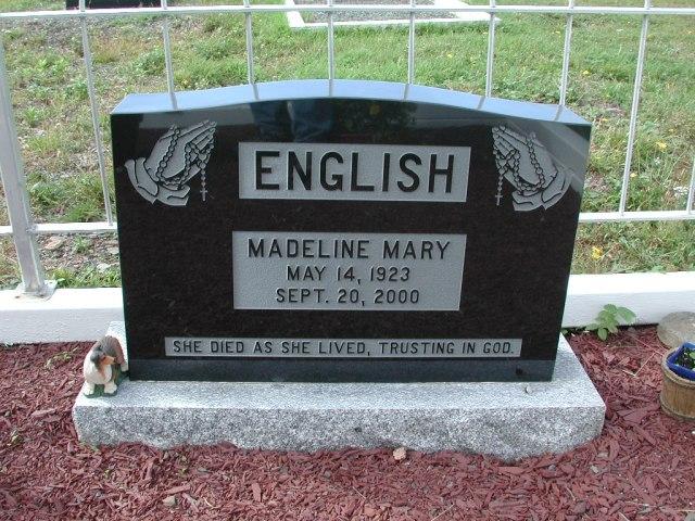 ENGLISH, Madeline Mary (2000) BRA01-7826