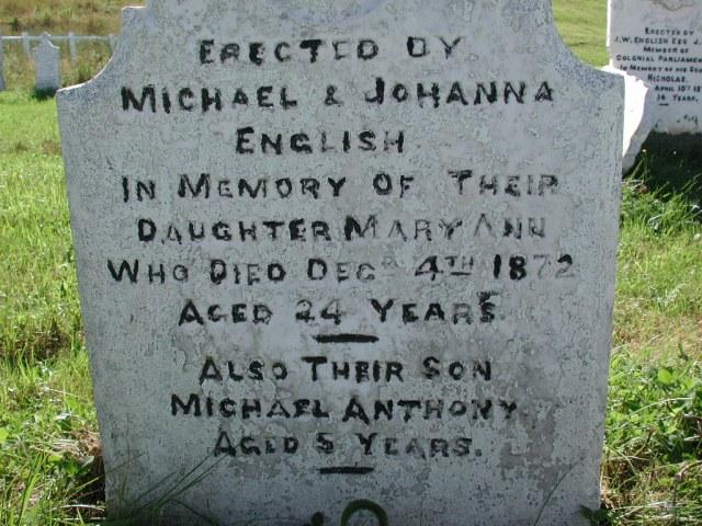 ENGLISH, Mary Ann (1872) & Michael Anthony BRA02-7868