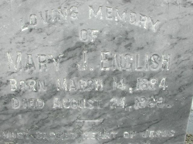 ENGLISH, Mary J (1969) BRA01-3184