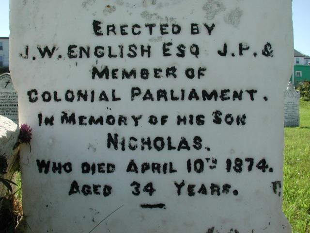 ENGLISH, Nicholas (1874) BRA02-7871