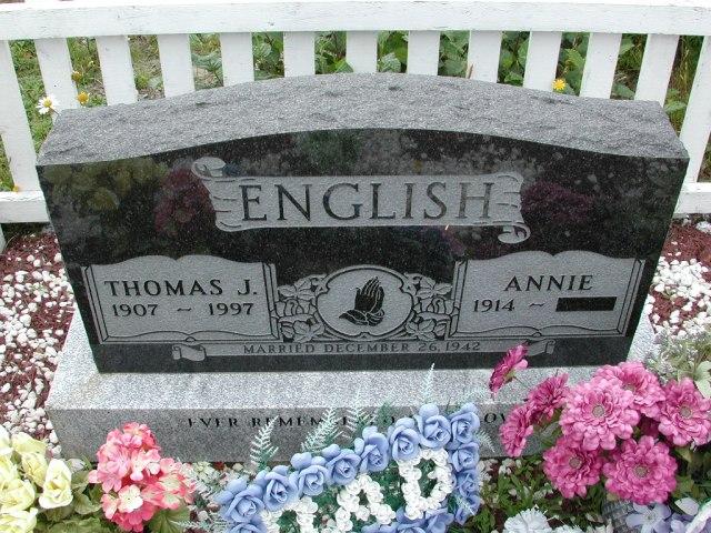 ENGLISH, Thomas J (1997) & Annie BRA01-3163