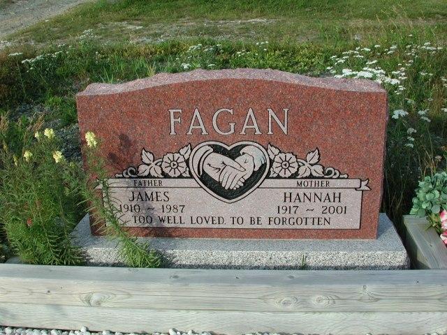 FAGAN, James (1987) & Hannah (2001) STM03-3722