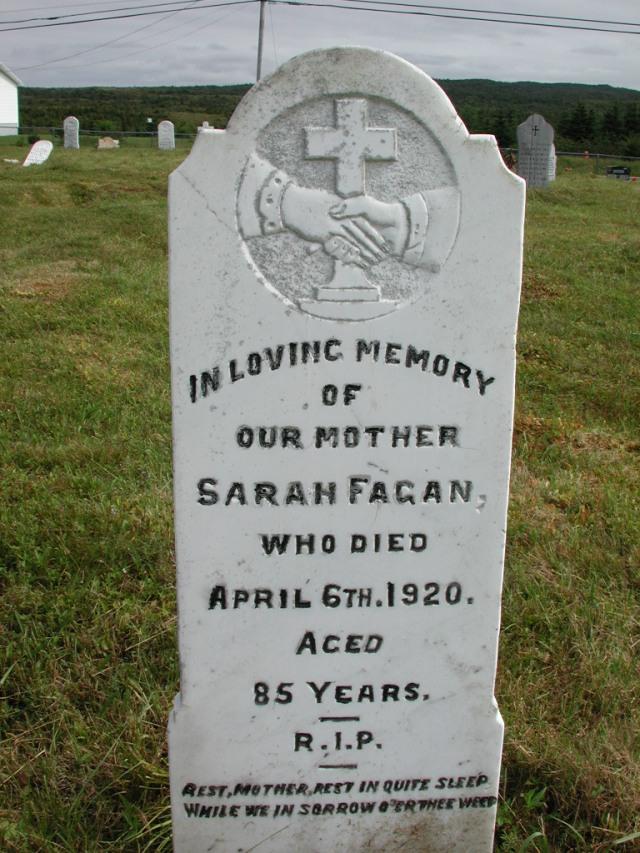 FAGAN, Sarah (1920) STM01-2384
