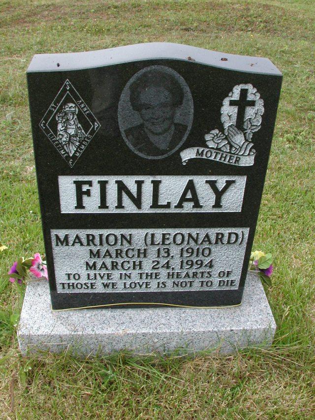 FINLAY, Marion Leonard (1994) SSH01-9049