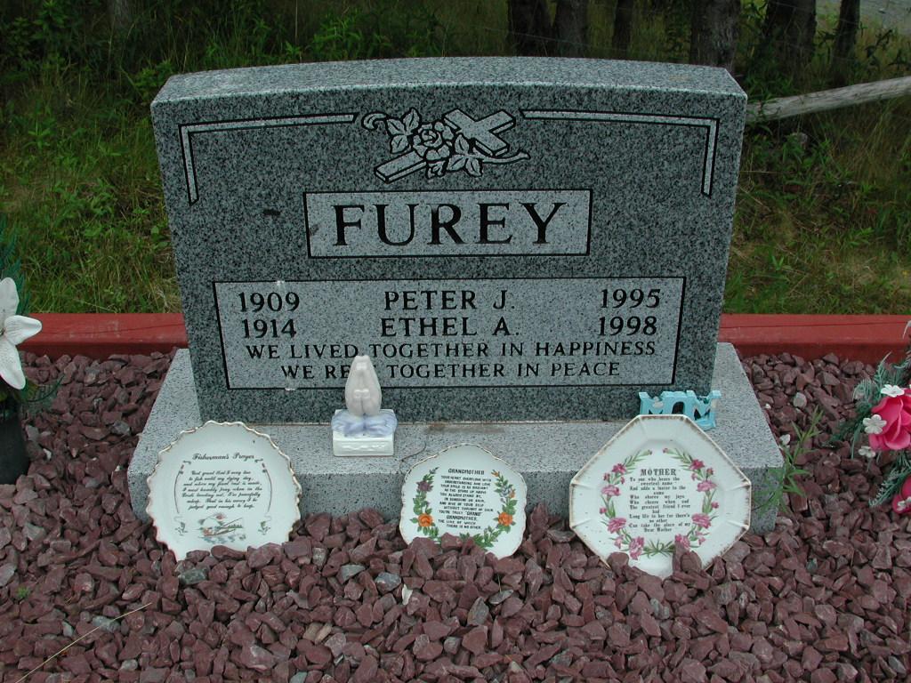 FUREY, Peter J (1995) & Ethel A (1998) SJP01-1783