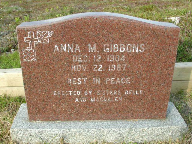 GIBBONS, Anna M (1987) STM03-9476