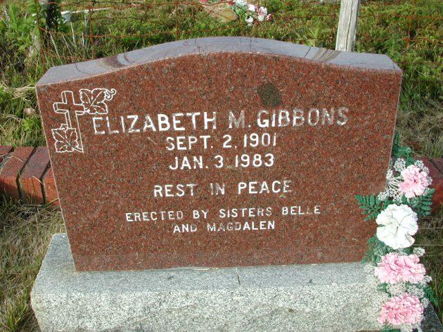 GIBBONS, Elizabeth M (1983) STM03-9477