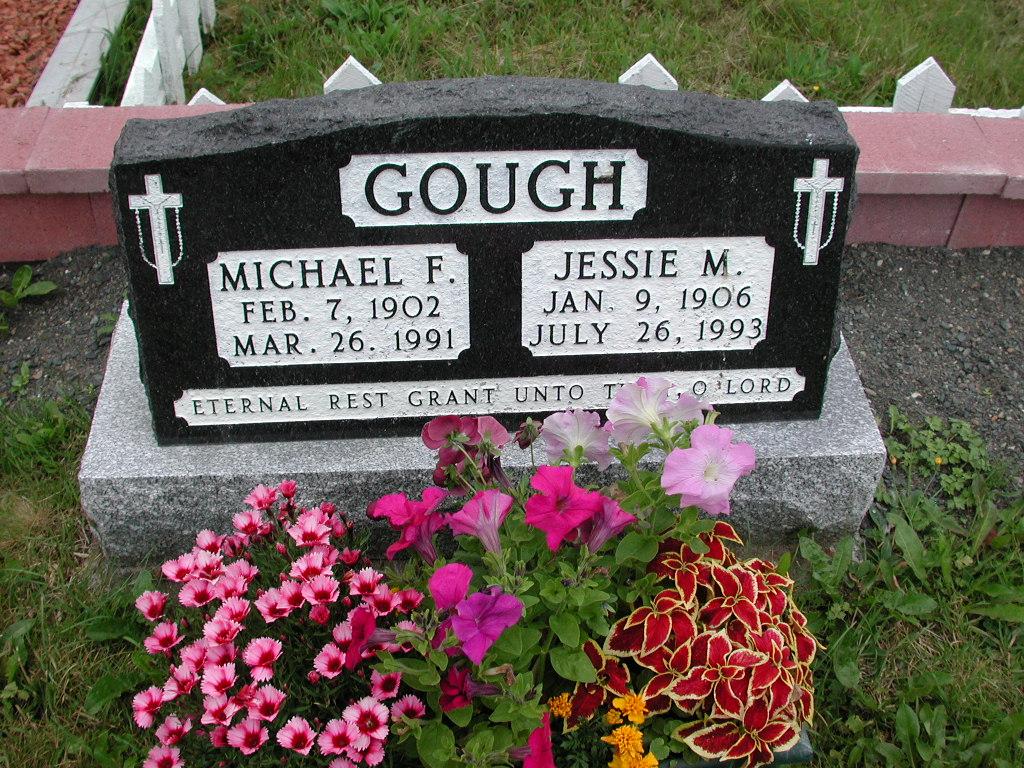 GOUGH, Michael F (1991) & Jessie M (1993) SJP01-1698