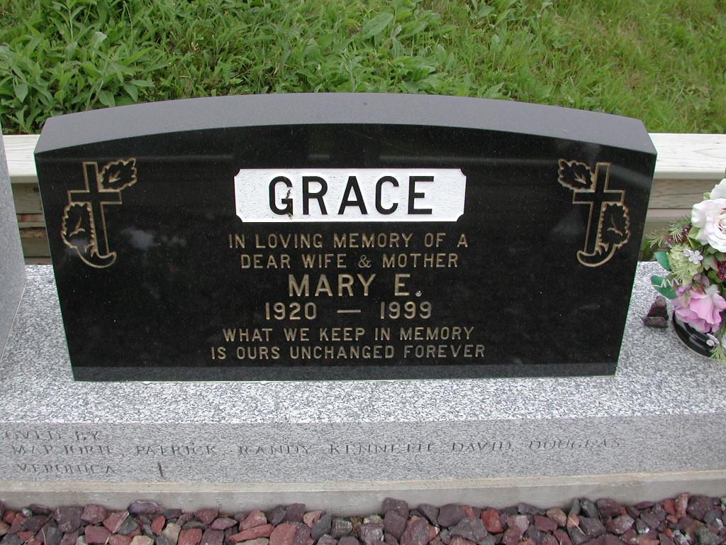 GRACE, Mary E (1999) SJP01-7426