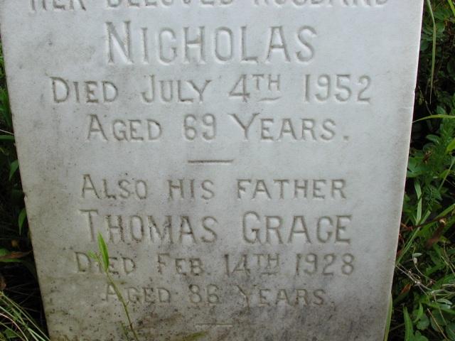 GRACE, Thomas (1928) & Nicholas (1952) STM01-8136