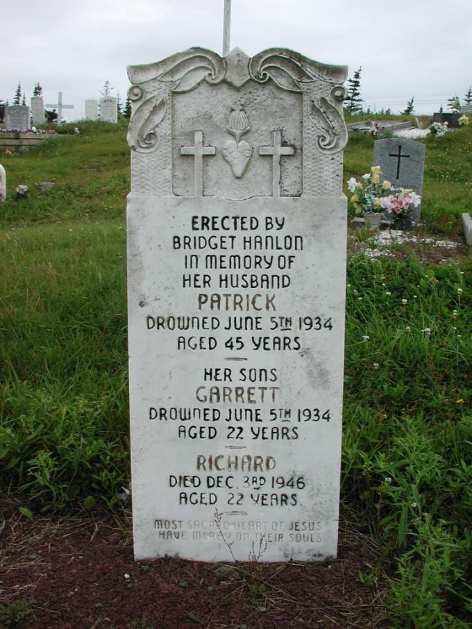 HANLON, Patrick (1934) & Garrett & Richard ODN02-2010