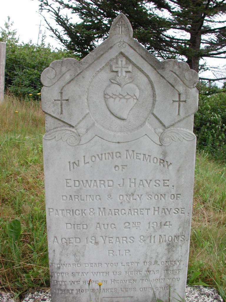 HAYSE, Edward J (1914) SJP01-1778