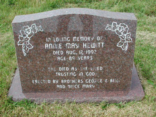 HEWITT, Annie May (1992) SSH01-3274
