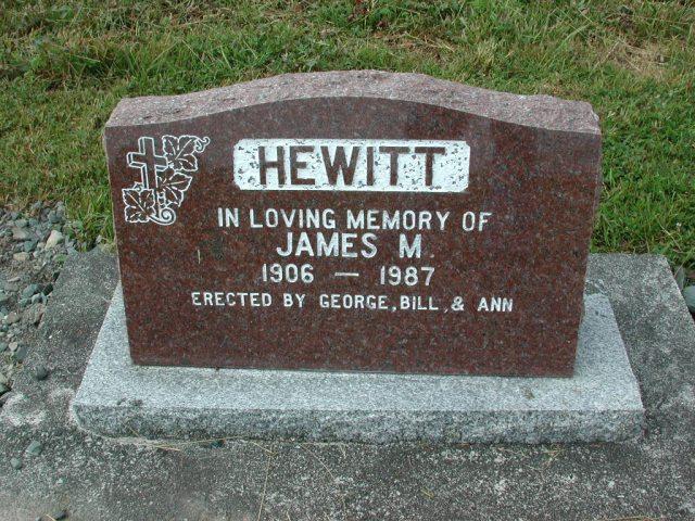 HEWITT, James M (1987) SSH01-3281