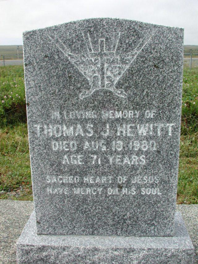 HEWITT, Thomas (1980) SSH01-3276