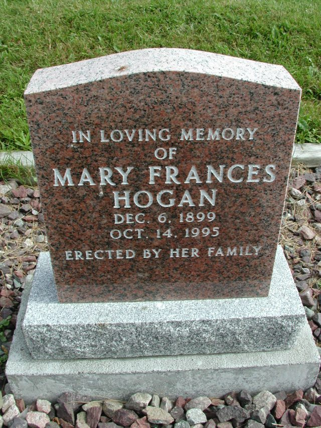 HOGAN, Mary Frances (1995) STM01-8263