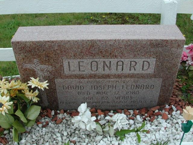 LEONARD, David Joseph (1980) ODN02-7764