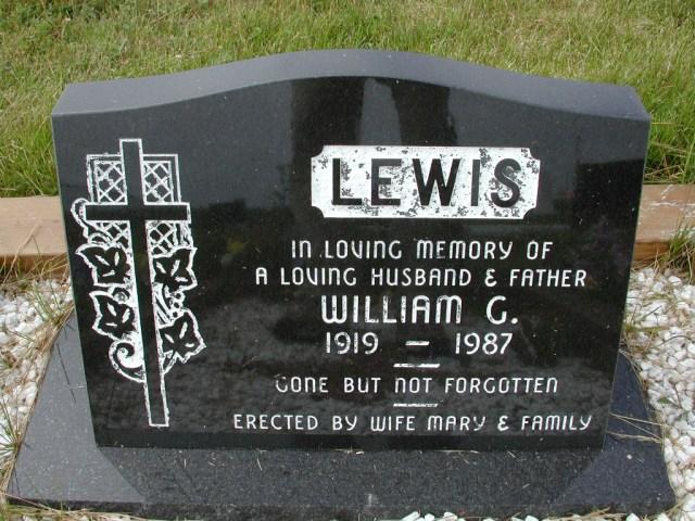 LEWIS, William G (1987) SSH01-9033