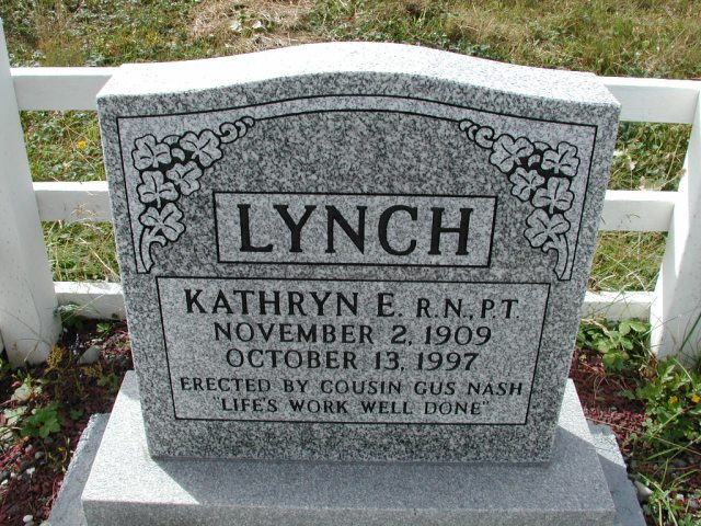 LYNCH, Kathryn E (1997) BRA01-3289