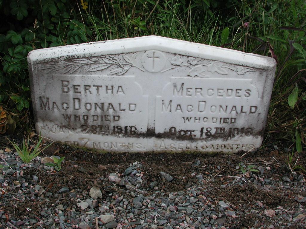 MACDONALD, Bertha (1916) & Mercedes (1918) SJP01-1672