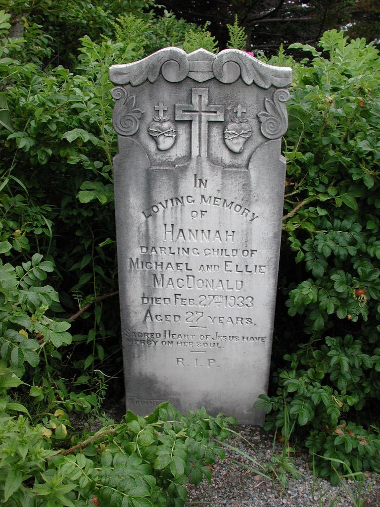 MACDONALD, Hannah (1933) SJP01-1665