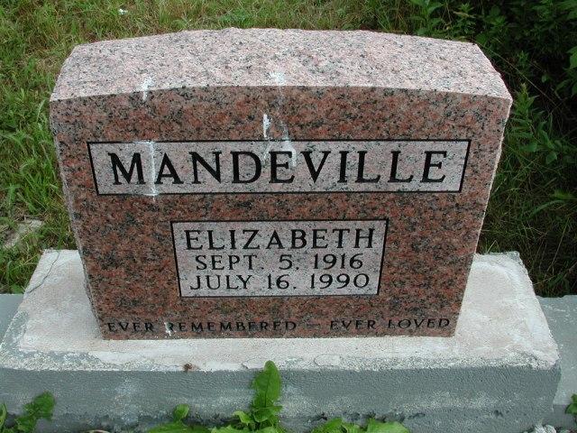 MANDEVILLE, Elizabeth (1990) STM01-8289